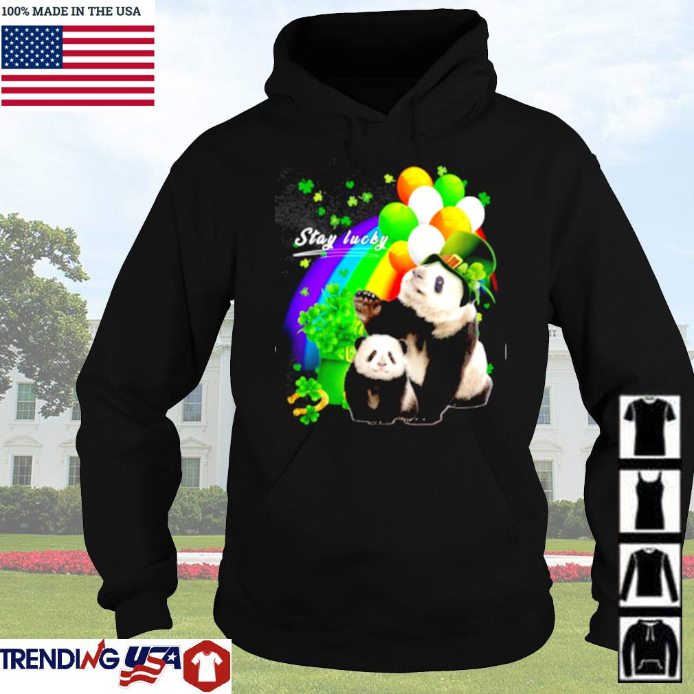 Cute Panda stay lucky Patrick's day s Hoodie