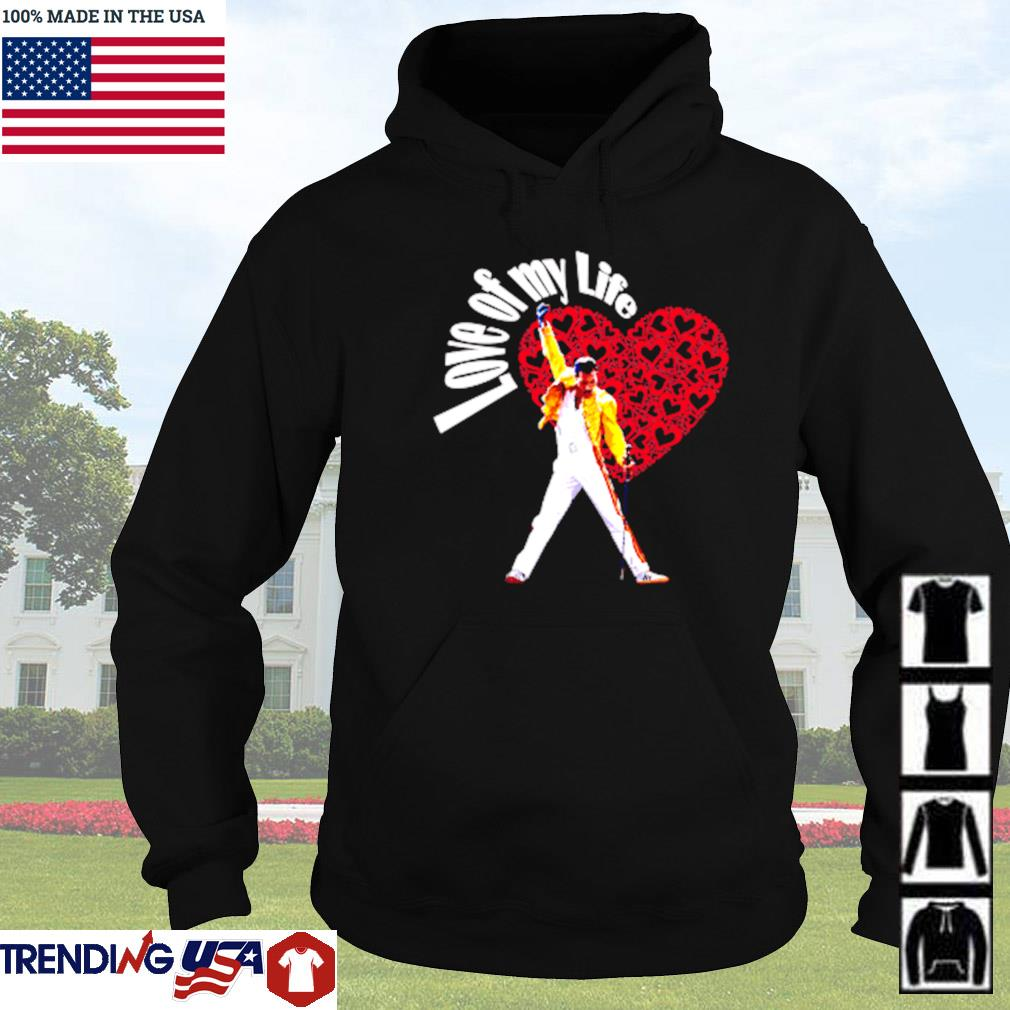 Freddie Mercury love of my life roses heart s Hoodie