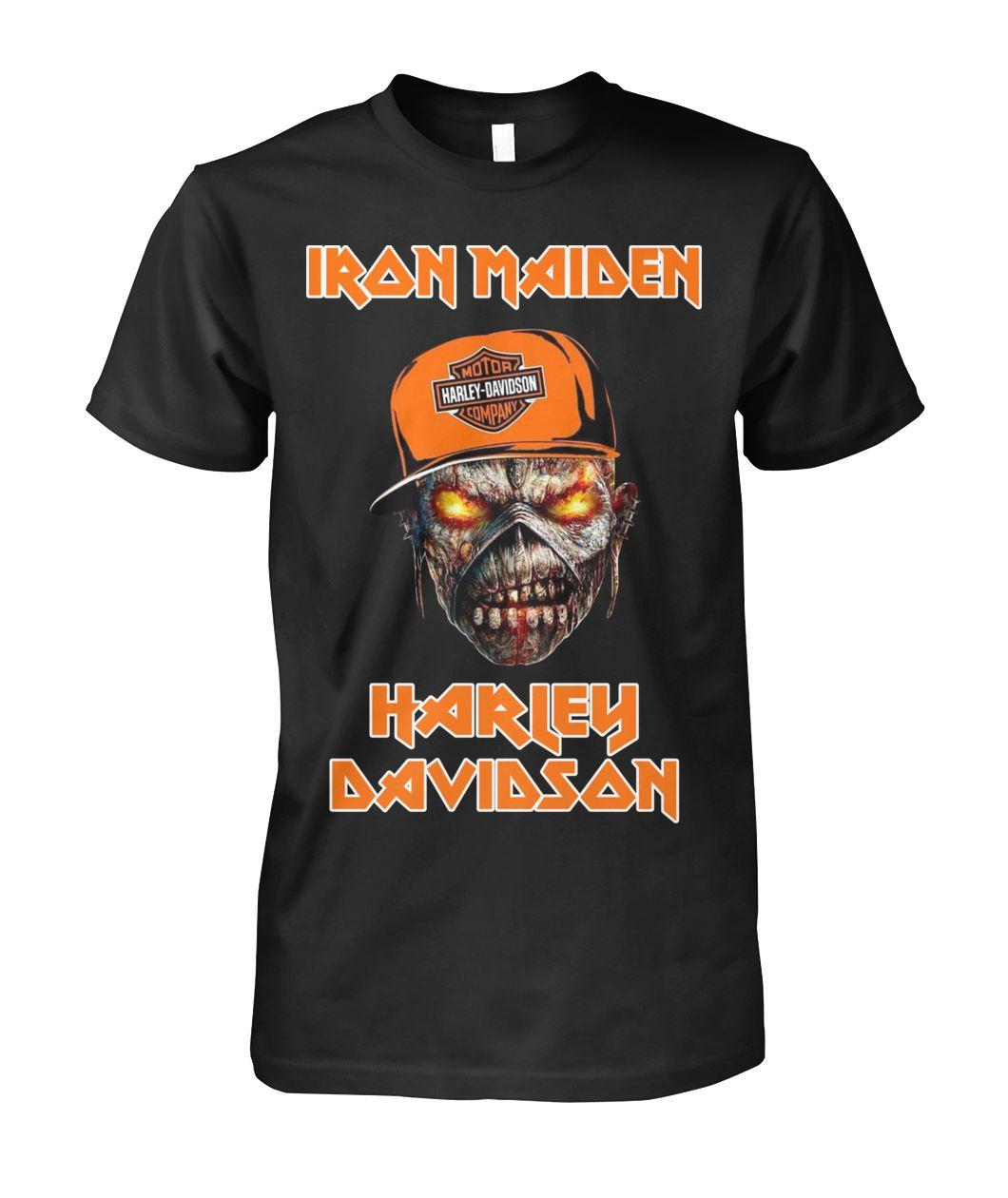 Official Iron Maiden Harley Davidson skull Shirt