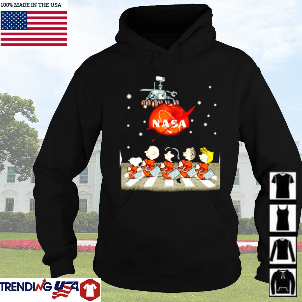 The Peanuts Snoopy and Friends Abbey Road Nasa mars s Hoodie