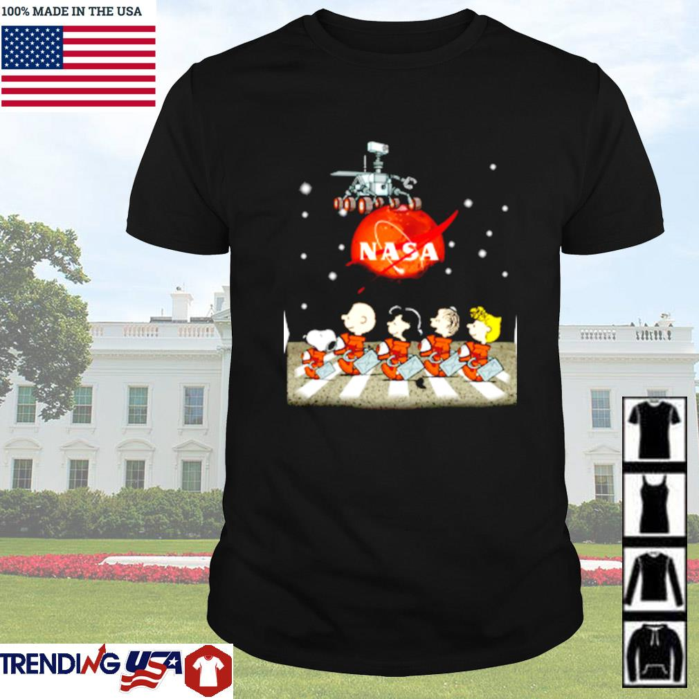 The Peanuts Snoopy and Friends Abbey Road Nasa mars shirt