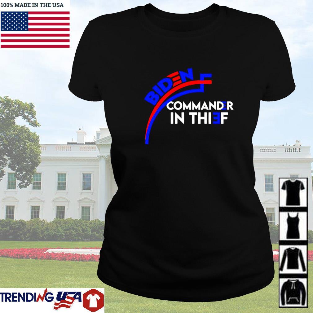Joe Biden commander in thief Benford's law Trump Ladies tee