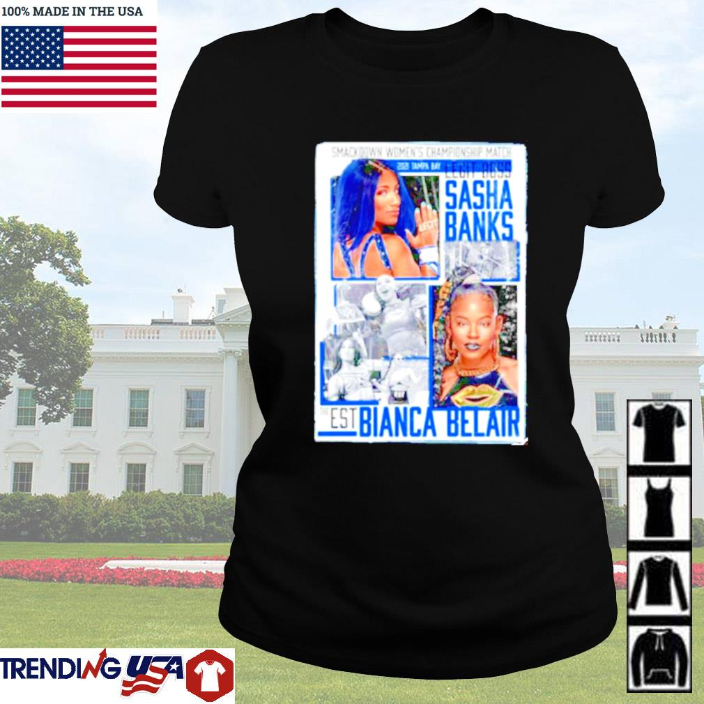 WrestleMania 37 Sasha Banks vs Bianca Belair Match up Ladies tee