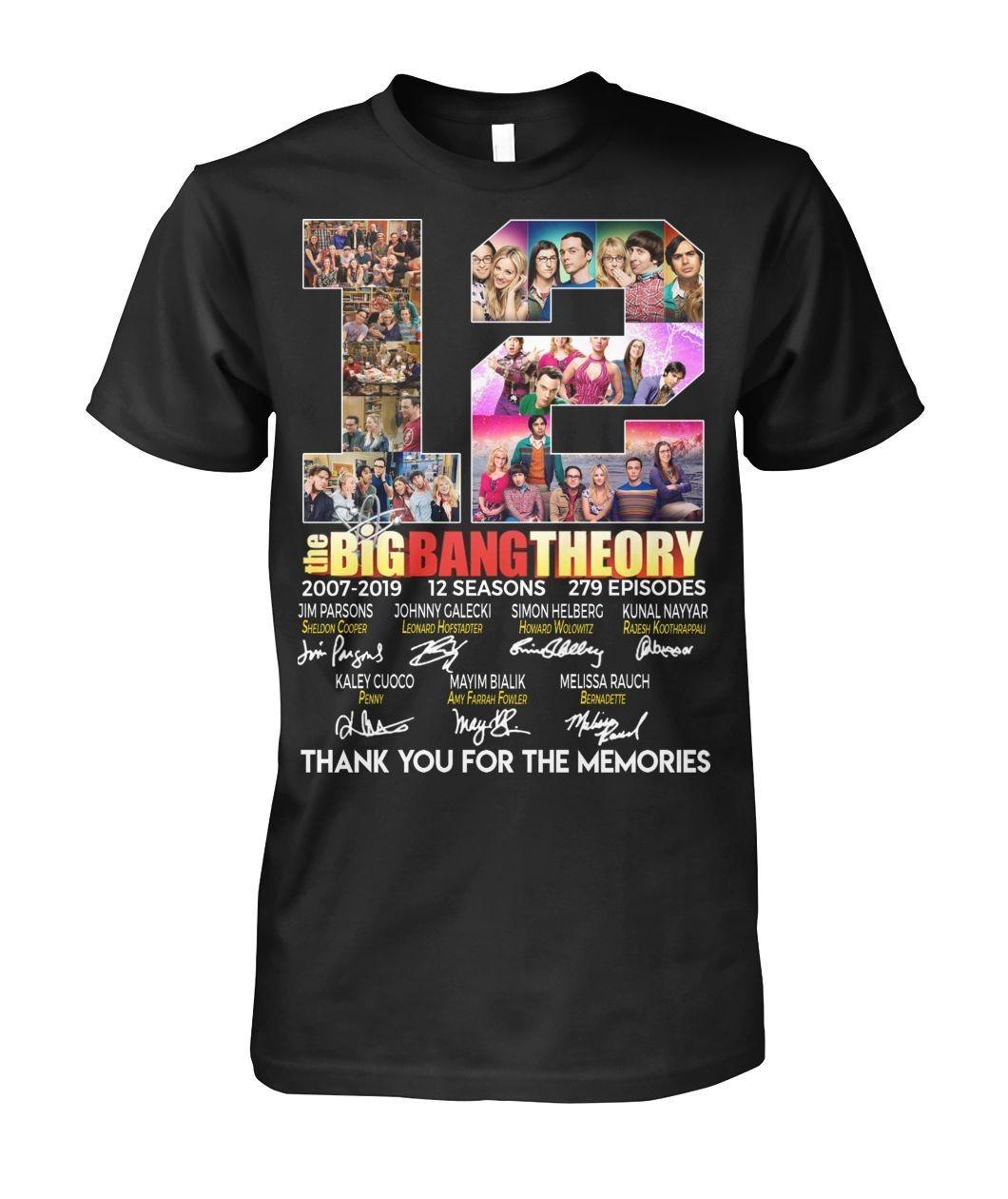 12 Years of The Big Bang Theory 2007-2019 12 seasons 279 episodes signatures shirt