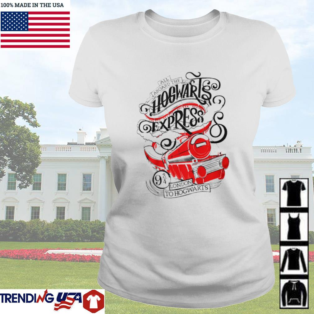 All aboard the Hogwarts express London to Hogwarts Ladies tee