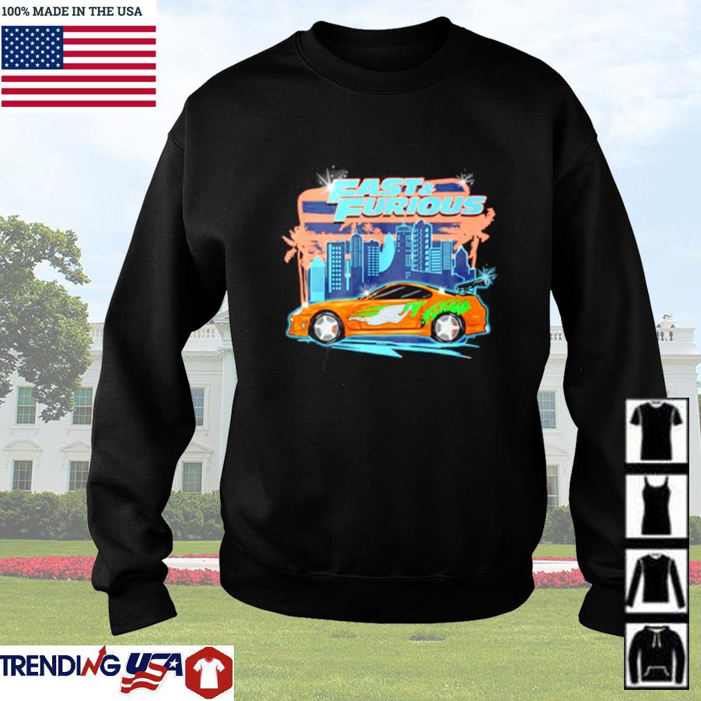 Fast and Furious car racing street Sweater