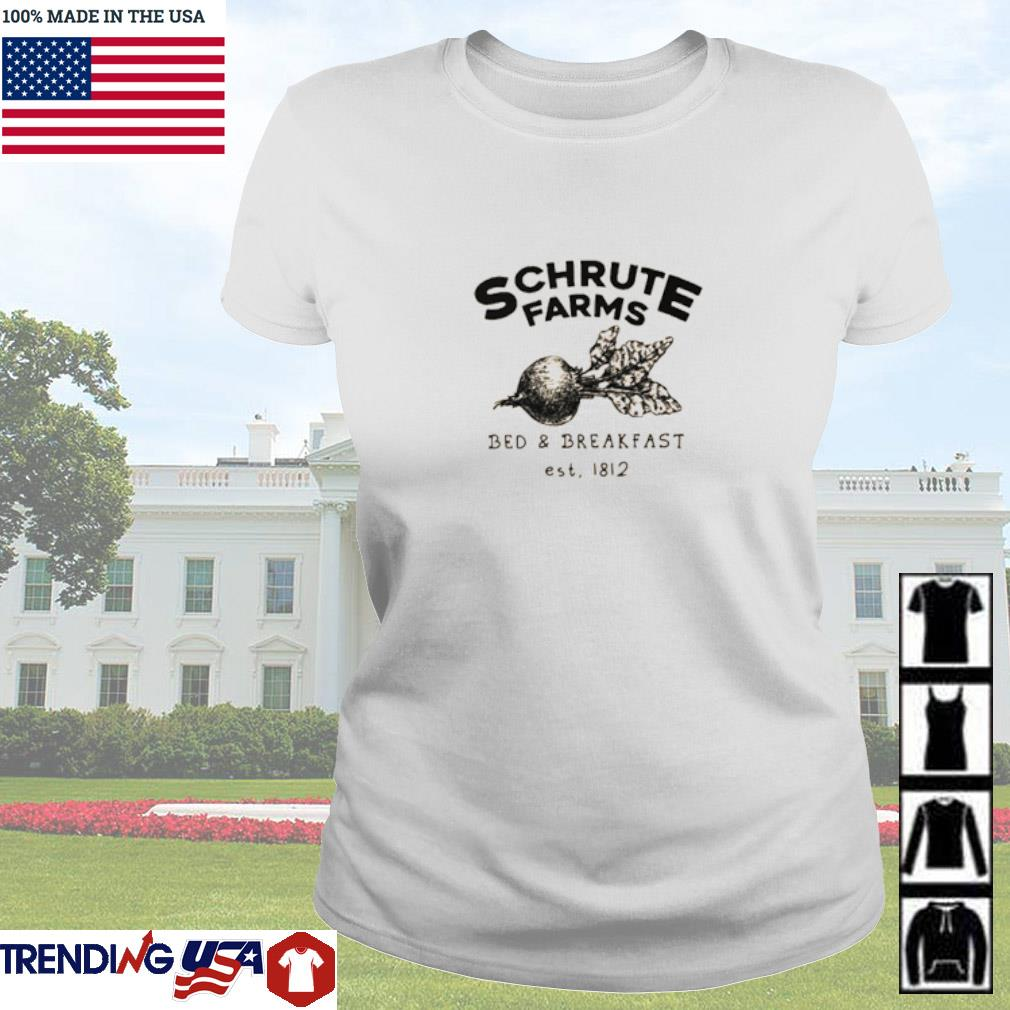 Schrute Farms bed and breakfast est 1812 Ladies tee