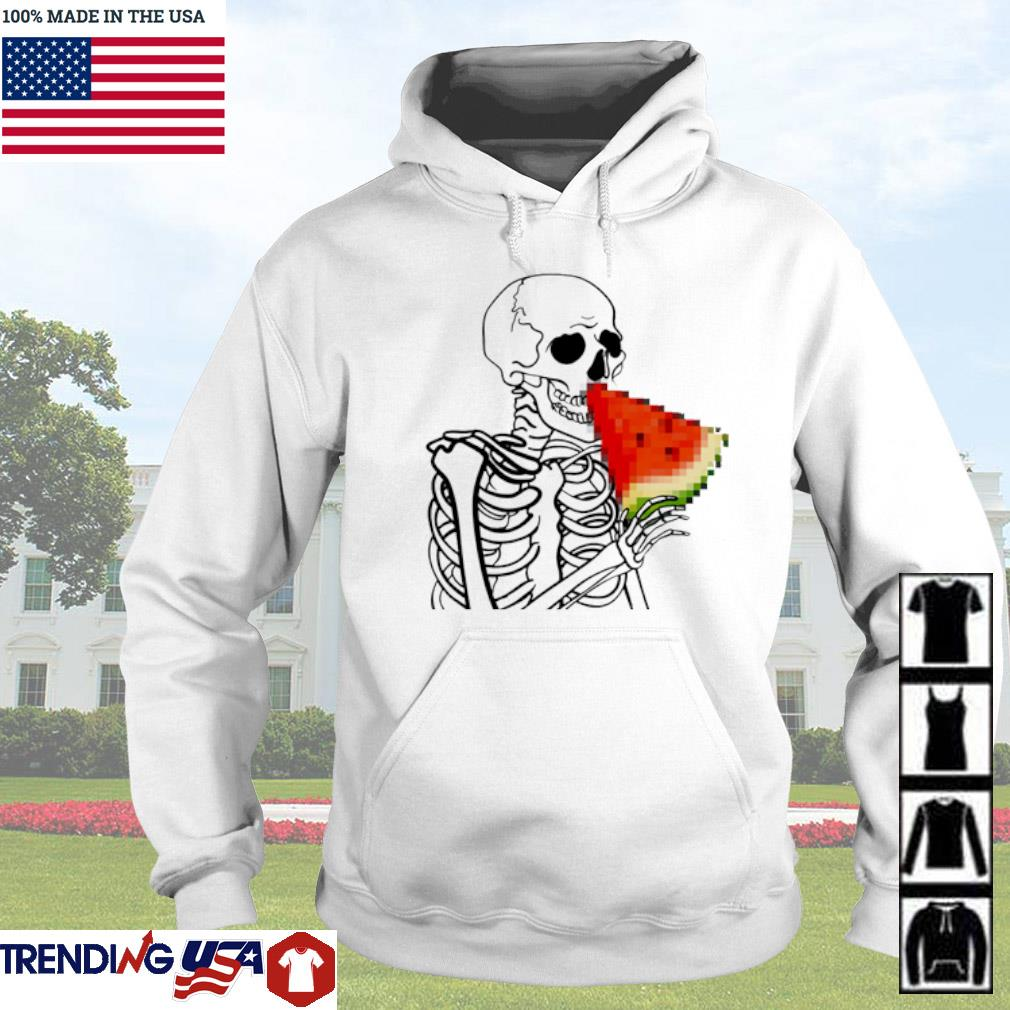 Skeleton eat Watermelon Hoodie