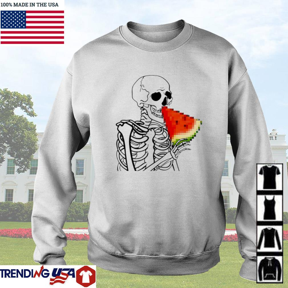 Skeleton eat Watermelon Sweater