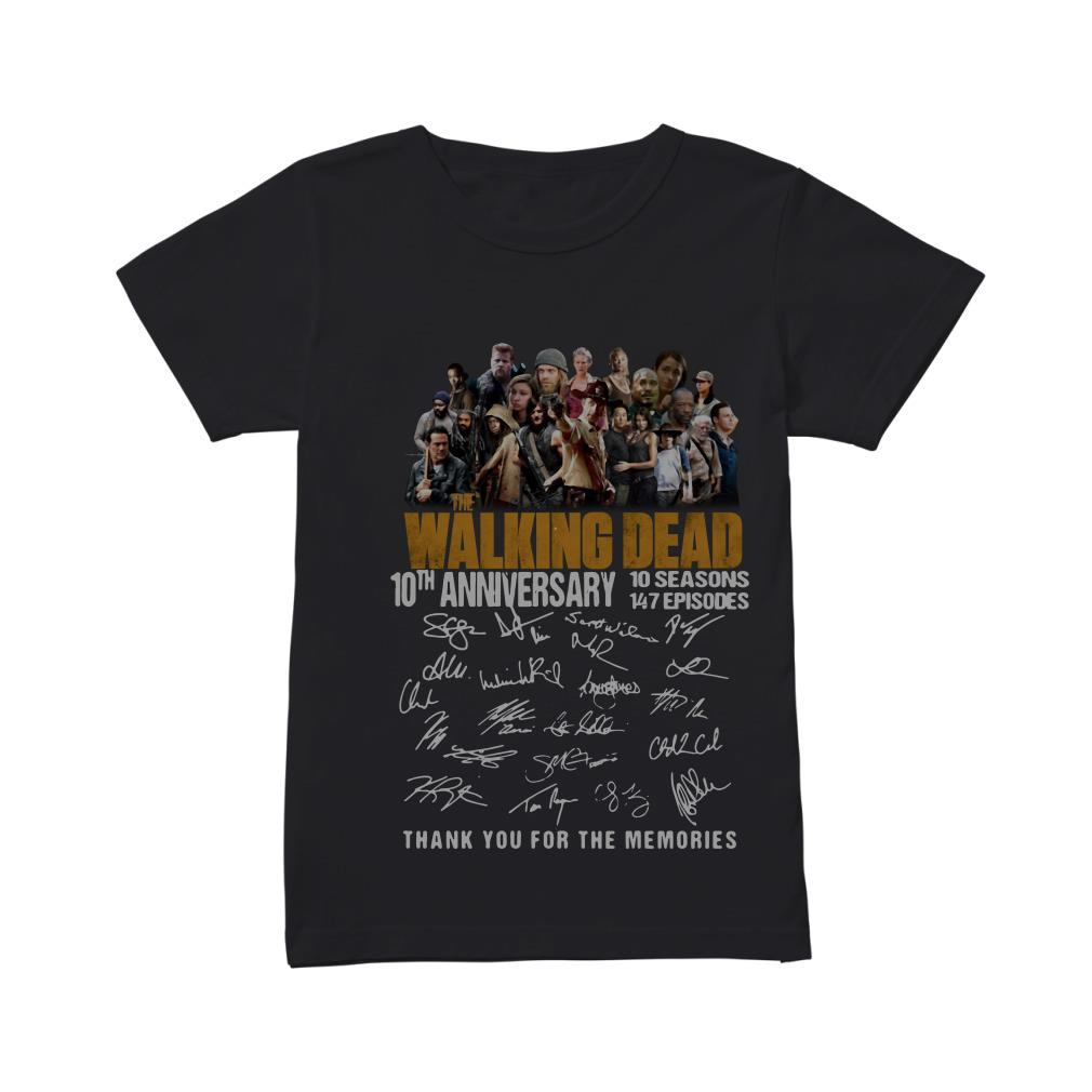 The Walking Dead 10th anniversary 10 seasons 147 episodes thank you for the memories shirt