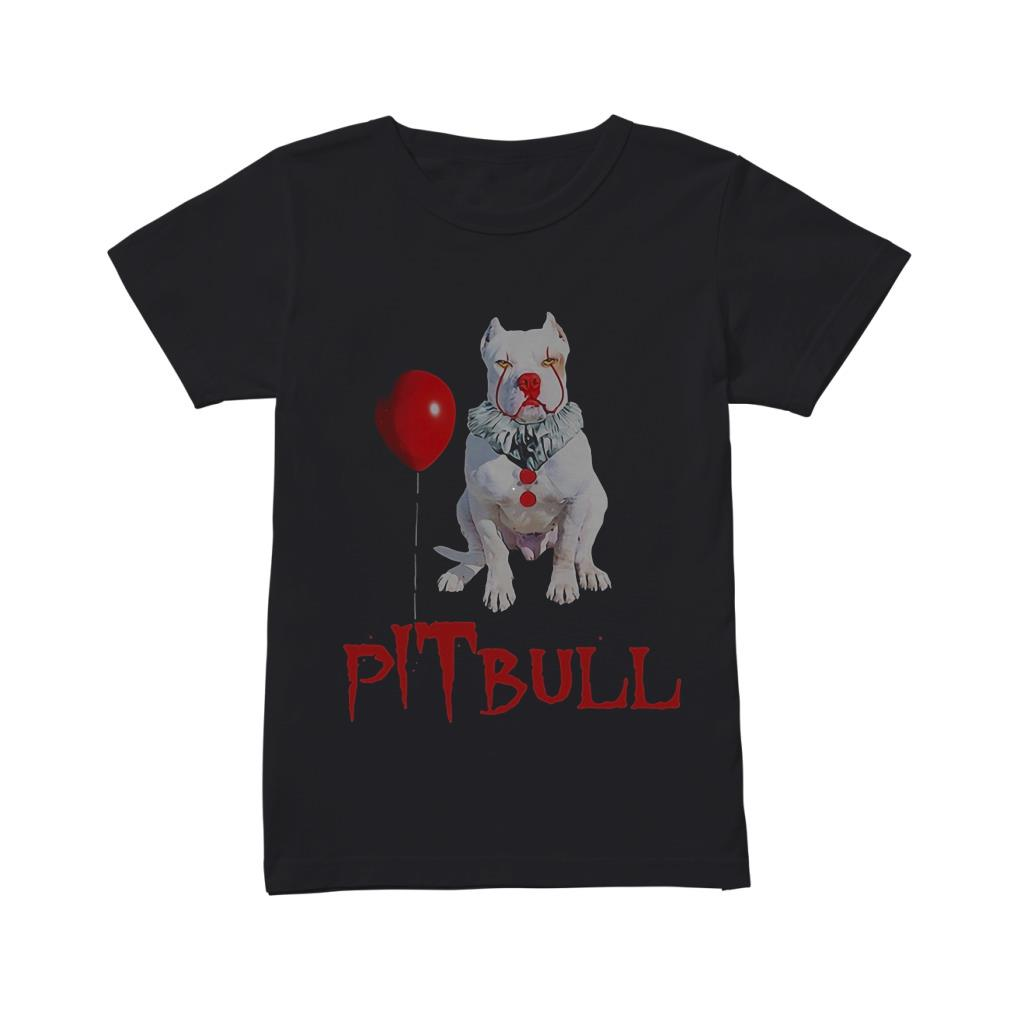 Pitbull IT Clown Halloween shirt