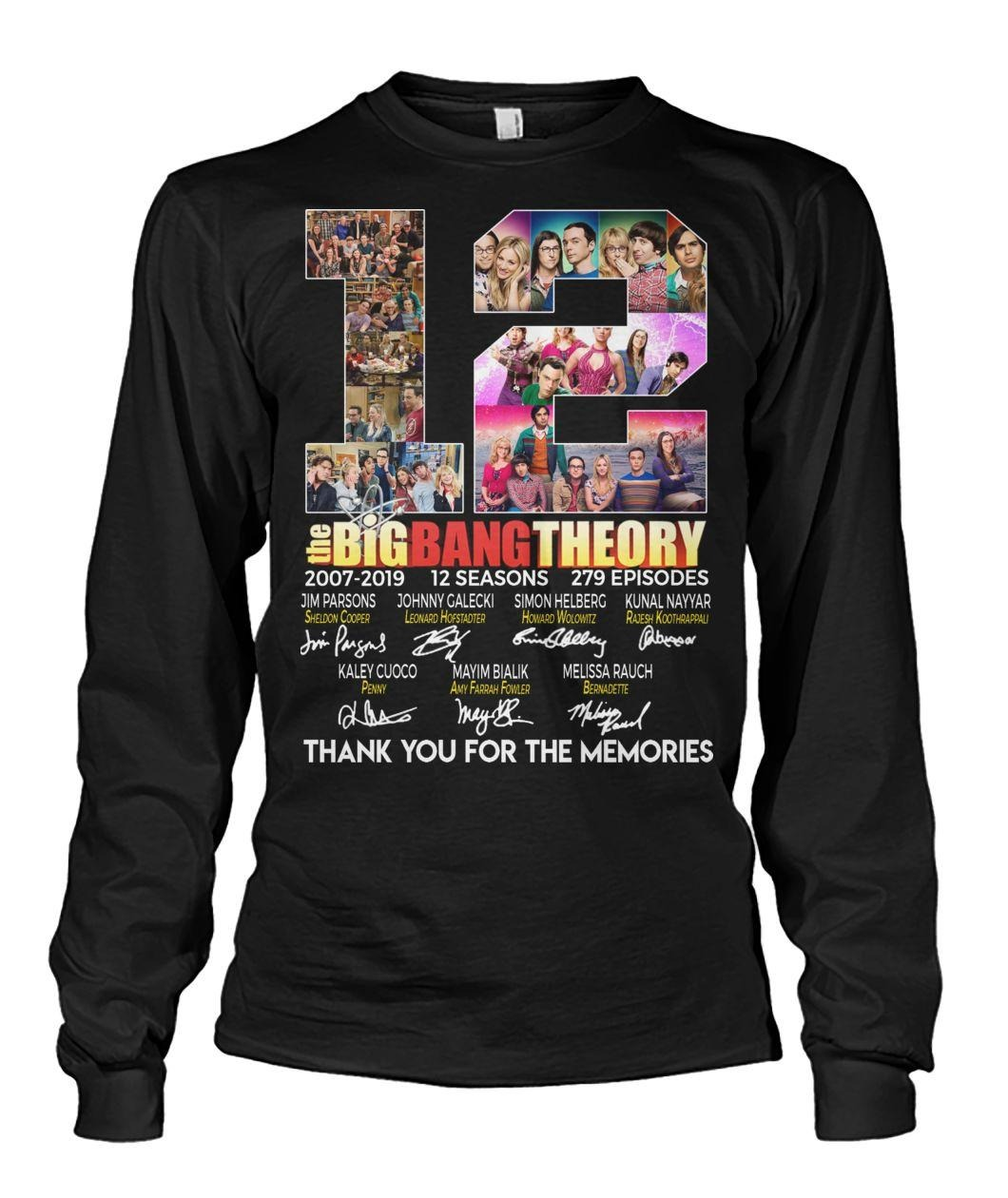 12 Years of The Big Bang Theory 2007-2019 12 seasons 279 episodes signatures shirt