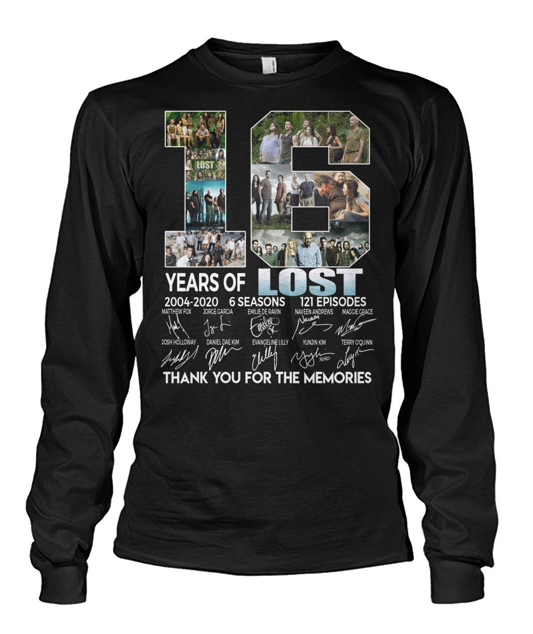 16 Years of Lost 2004-2020 6 seasons 121 episodes signatures shirt