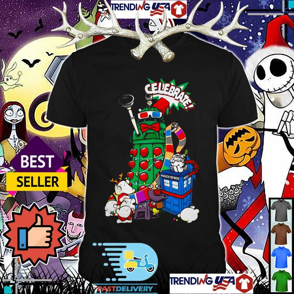 Celebrate Doctor Who Police public call box Christmas shirt