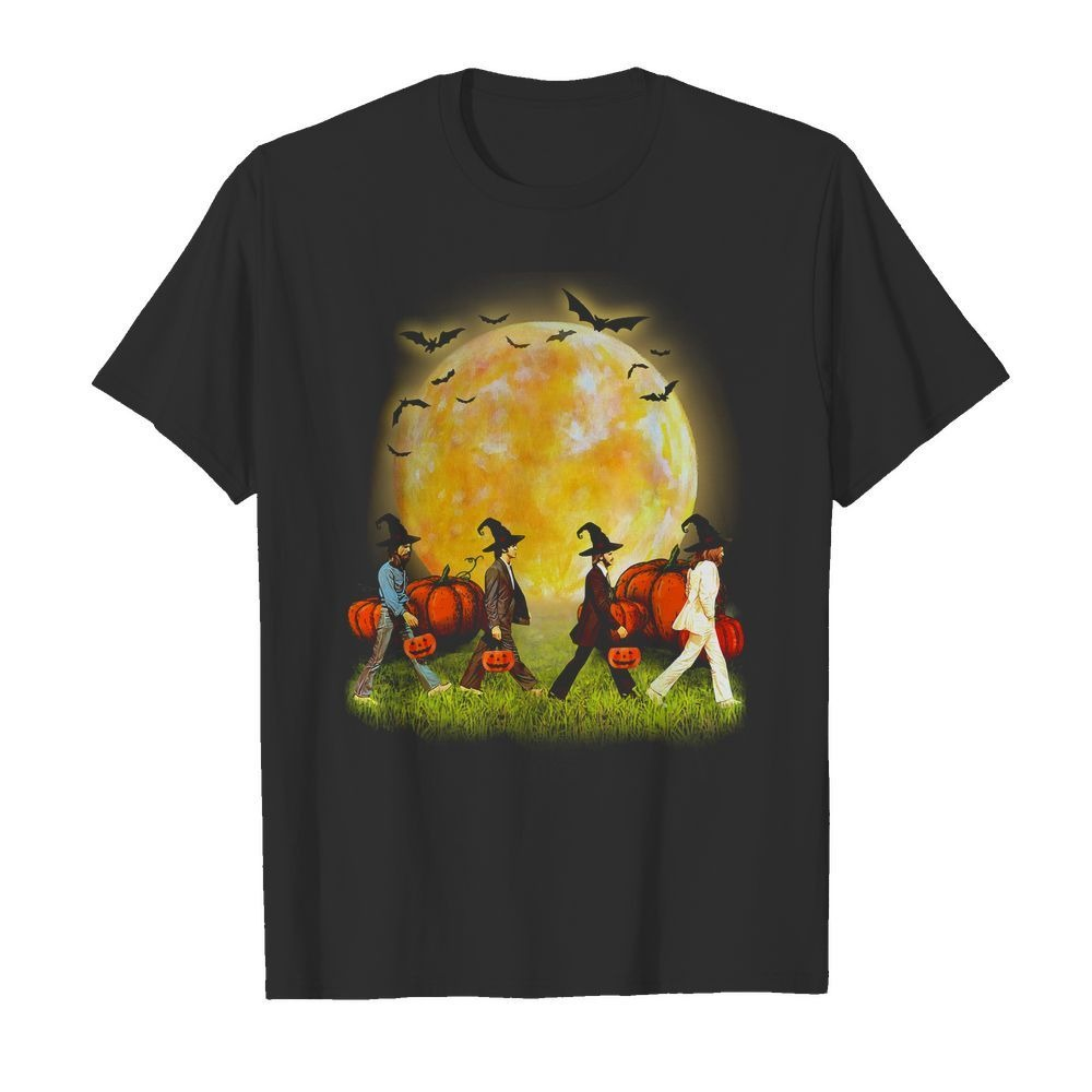 Abbey Road walking on the moon Halloween shirt