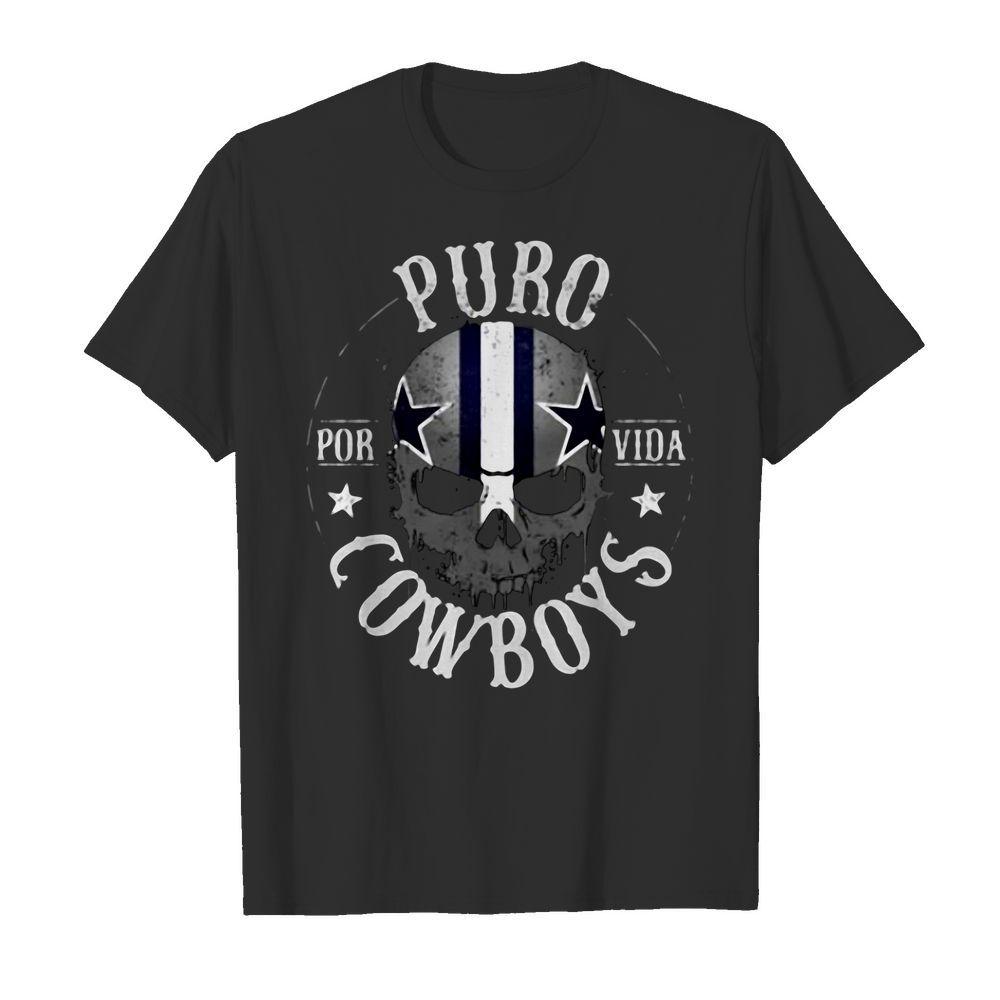 Dallas Cowboys Skull Puro Cowboys Shirt