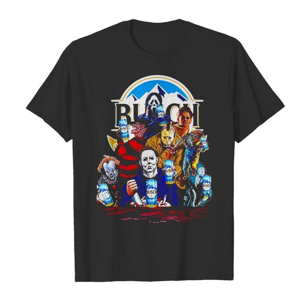Horror Characters Drinking Busch Light shirt