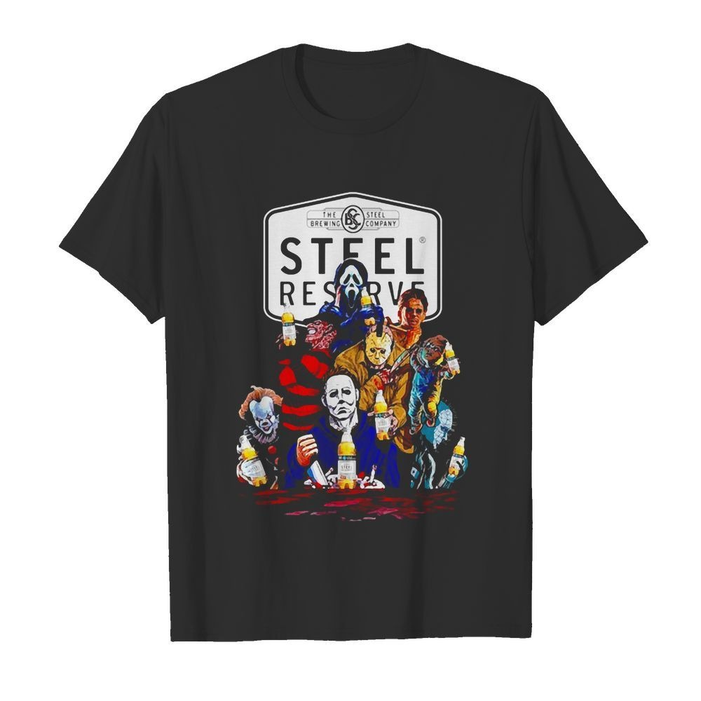 Horror Characters Drinking Steel Reserve shirt