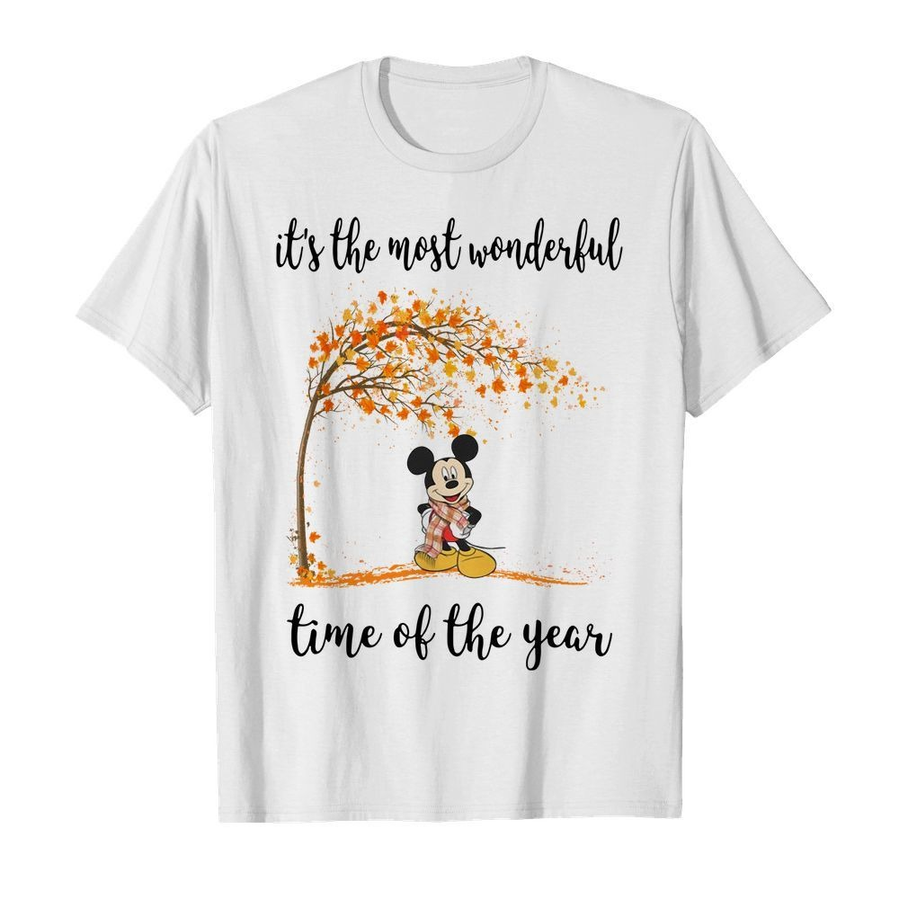 Mickey Mouse it's the most wonderful time of year shirt