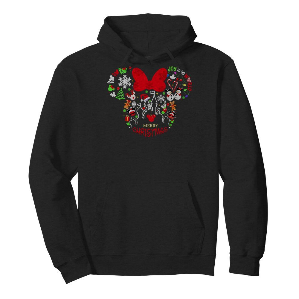 Mickey Mouse Joy to the world Merry Christmas Hoodie