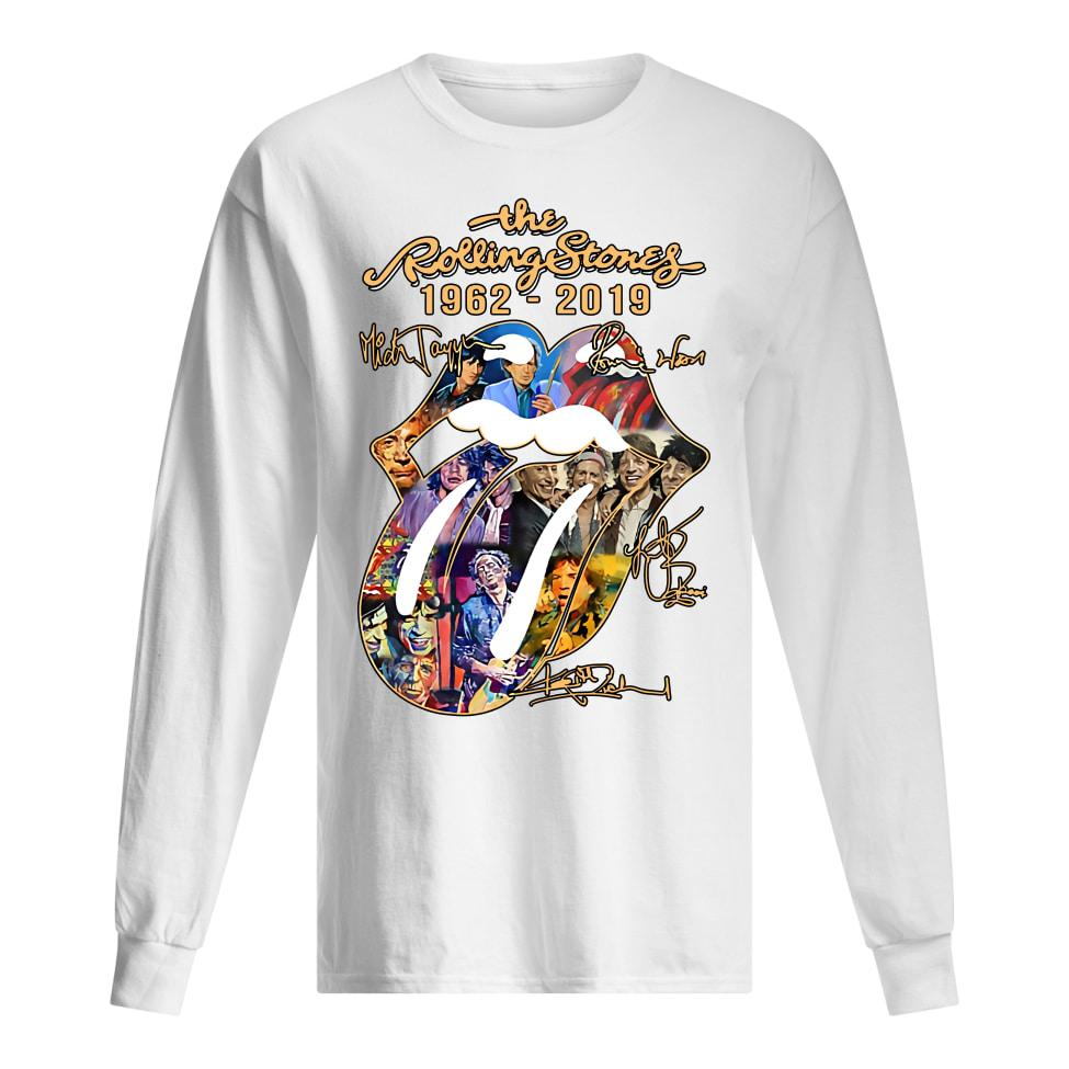 The Rolling Stones 1962-2019 Mick Jagger Ronnie Wood signatures Sweater