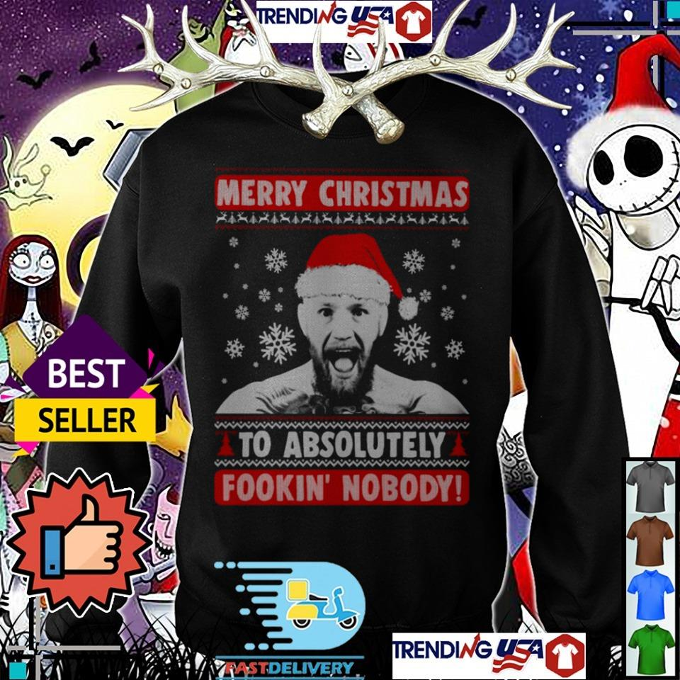 Conor Mcgregor Merry Christmas to absolutely Fokkin' Nobody sweater