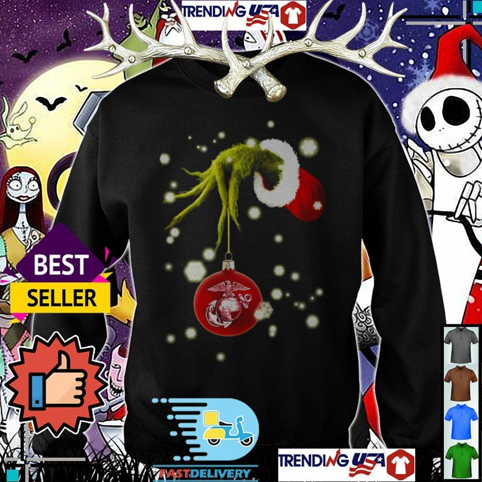 The Grinch hold Marine Christmas sweater
