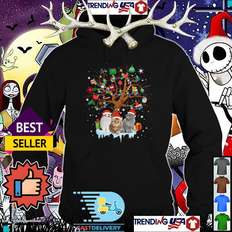 Cat lover Christmas tree sweater