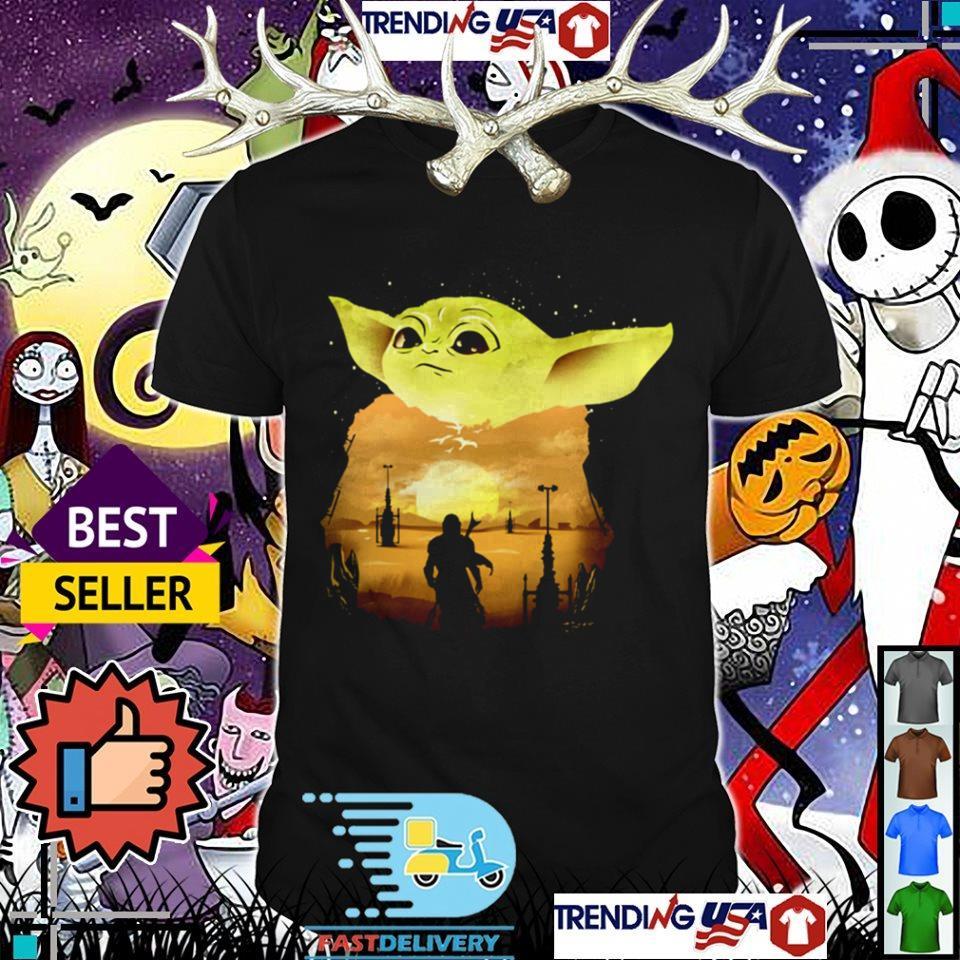 Star Wars Yoda ManDalorian shirt