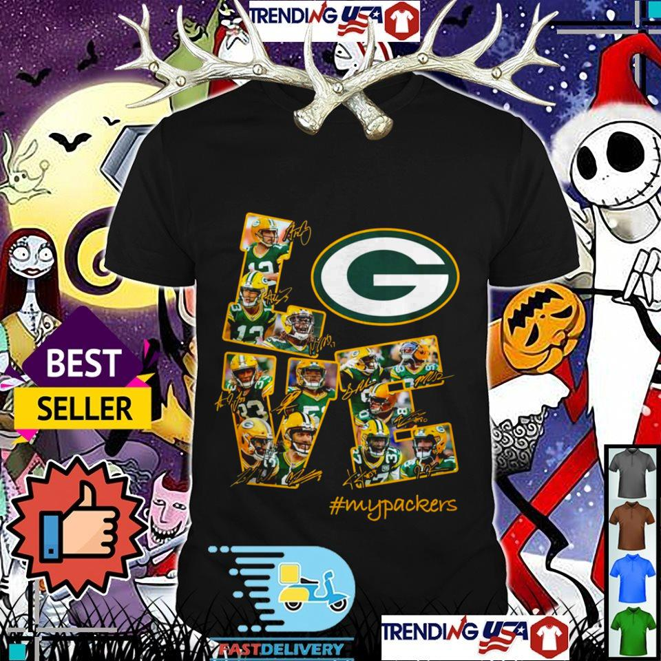 Green Bay Packers love #mypackers all players signature shirt