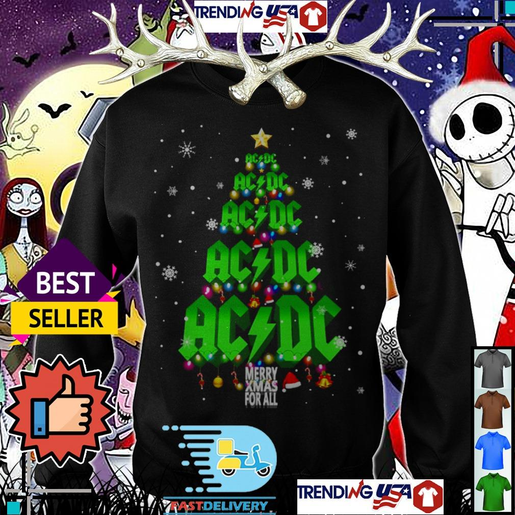 ACDC Merry Xmax For All Christmas tree sweater
