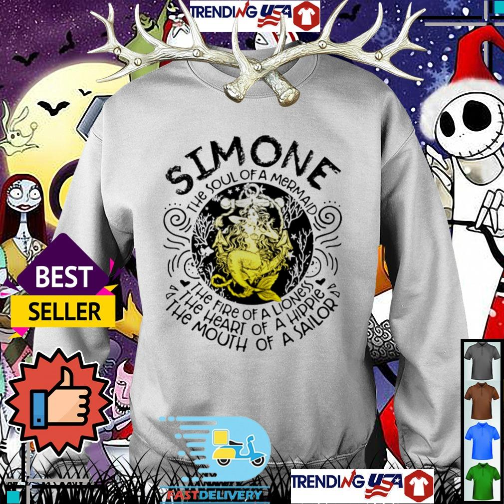 Simone the soul of a mermaid the fire of a lioness the heart of a hippie Sweater