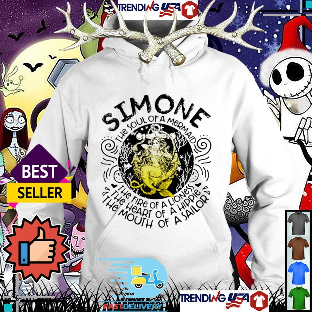 Simone the soul of a mermaid the fire of a lioness the heart of a hippie Hoodie