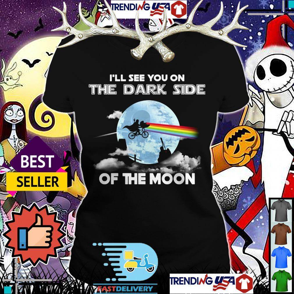 The Pink Floyd I'll see you on the dark side of the moon shirt