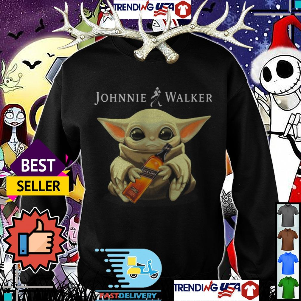 Star Wars Baby Yoda hug Johnnie Walker Whiskey shirt