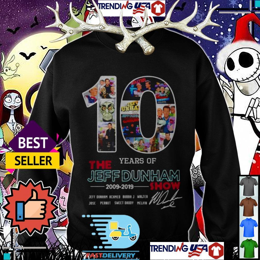 10 years of the Jeff Dunham show 2009 2019 show signature shirt