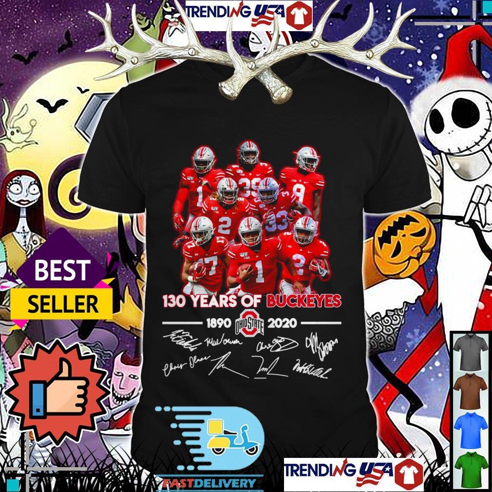 130 years of Ohio State Buckeyes 1890 2020 team signatures shirt