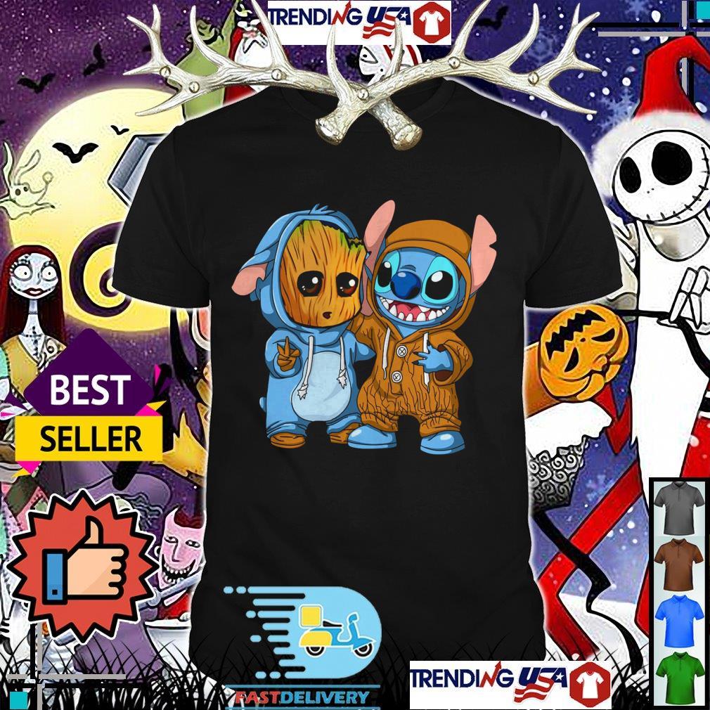Baby Groot and Baby Stitch shirt