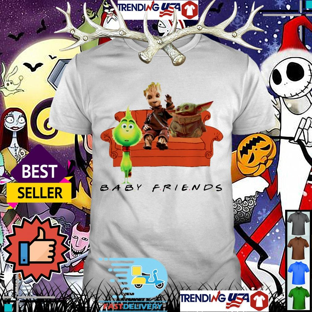 Baby Grinch Baby Groot and Baby Yoda Baby Friends TV Show shirt