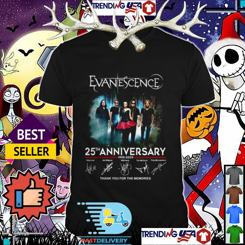 Evanescence 25th anniversary thank you for the memories signatures shirt