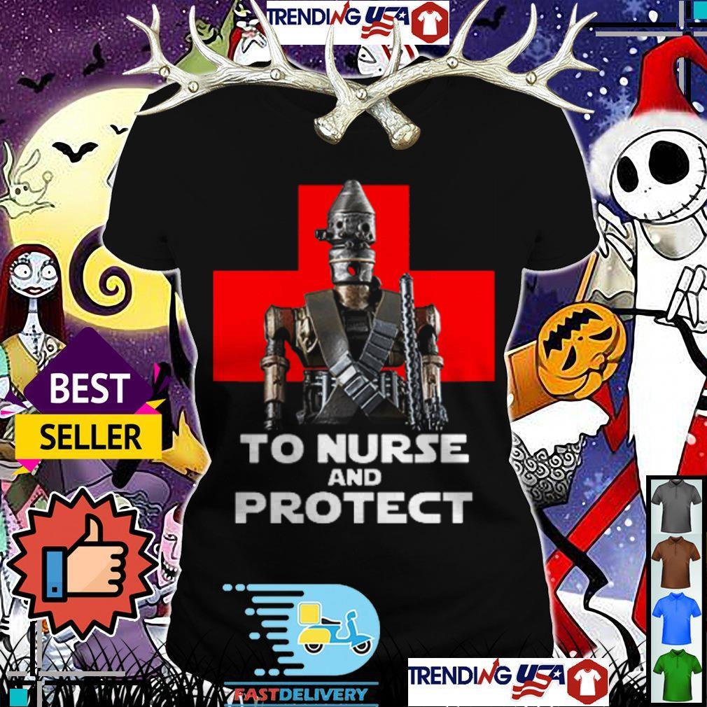 The Mandalorian to nurse and protect shirt