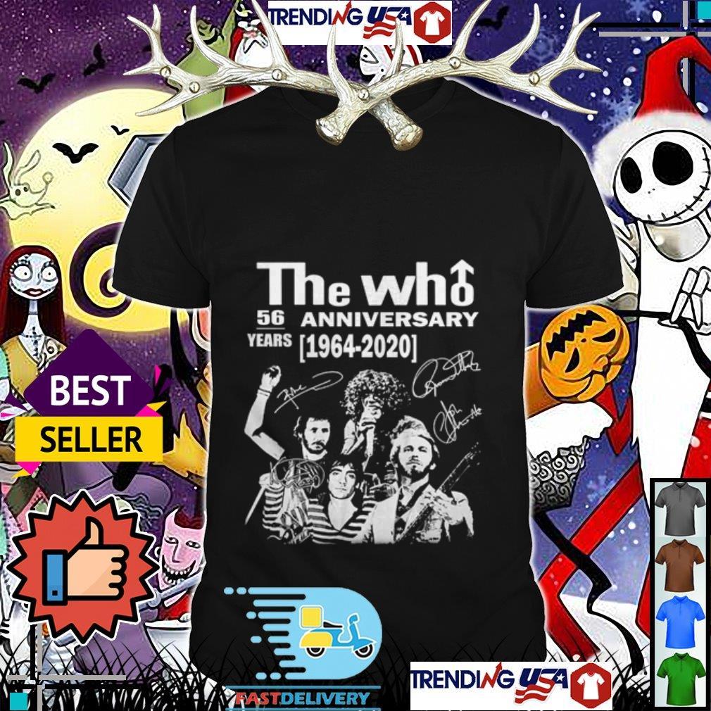 56 years anniversary The Who 1964 2020 signatures shirt
