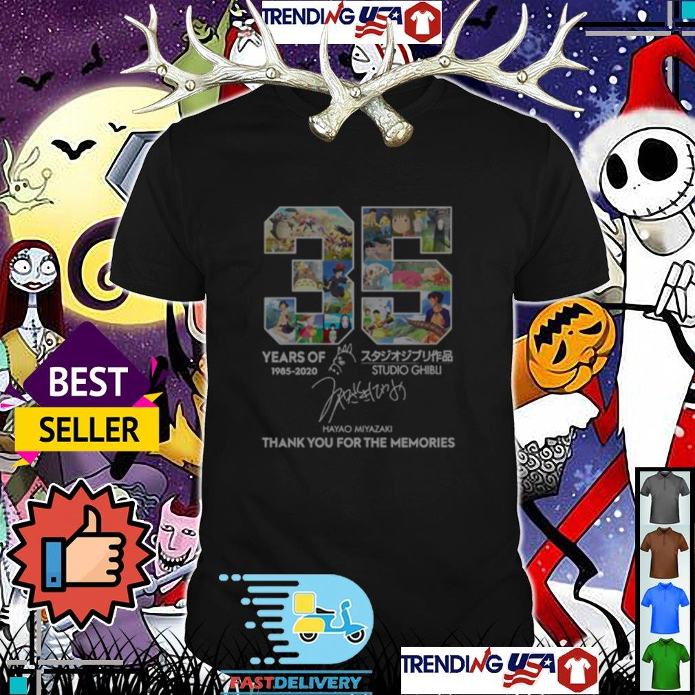 35 years of Studio Ghibli thank you for the memories signature shirt