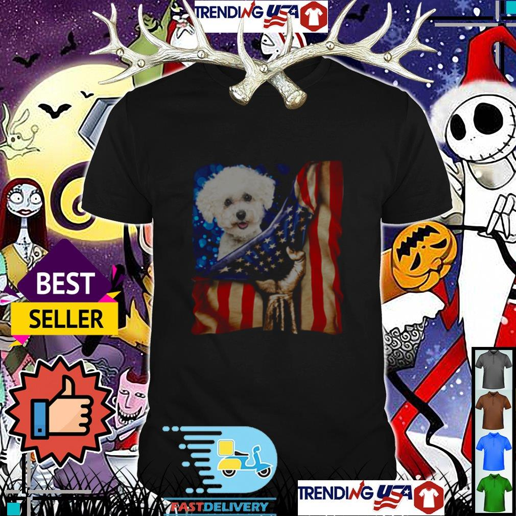 4th of July independence day Bichon Frise American shirt