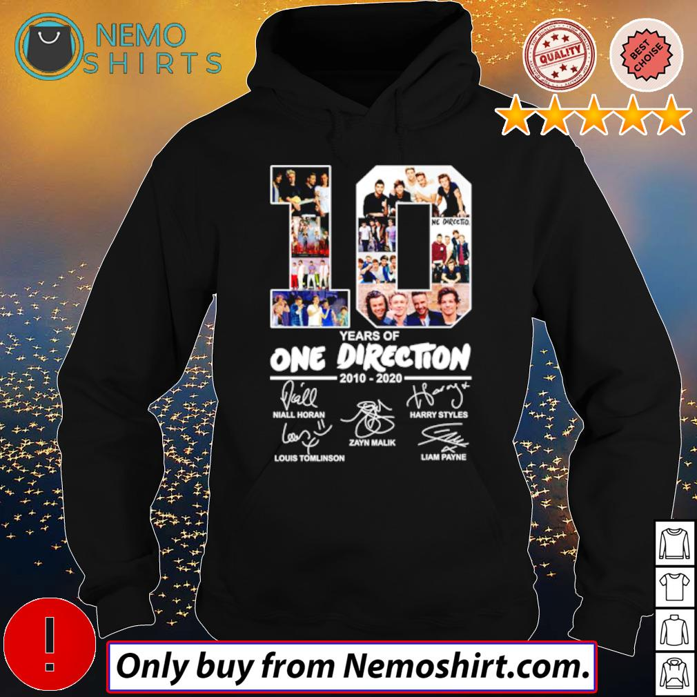 10 Years of One Direction 2010-2020 all members signatures s Hoodie Black