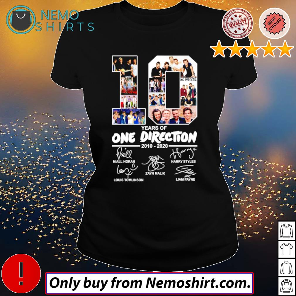 10 Years of One Direction 2010-2020 all members signatures s Ladies Black