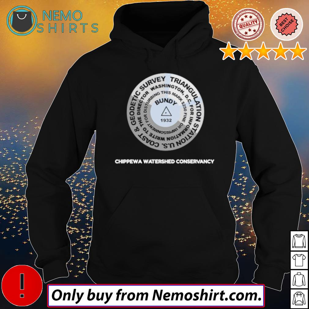 Bundy Hill 1932 Geodetic survey triangulation Chippewa watershed conservancy s Hoodie Black