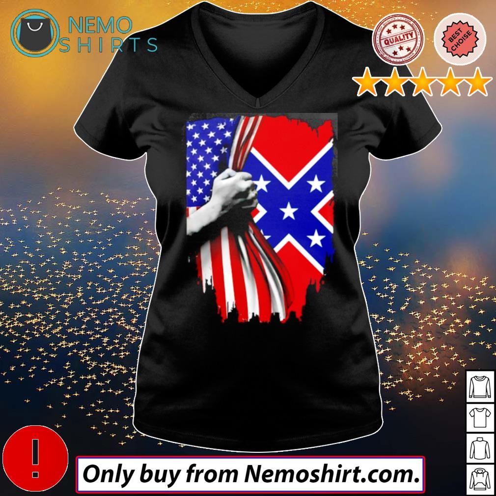 Confederate States of America s V-neck Ladies Black