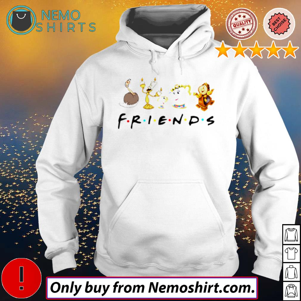 Disney Beauty and the beast friends s Hoodie white