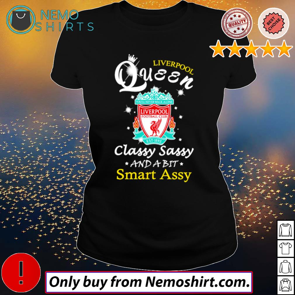 Football Club Liverpool Queen classy sassy and a bit smart assy s Ladies Black